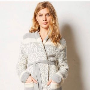 ELOISE Anthropologie INTARSIA Cardigan Robe